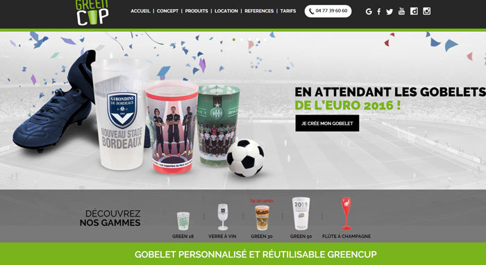 Gobelet personnalisé Greencup